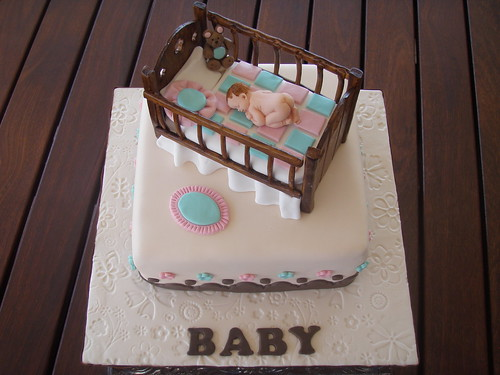 Fondant Baby Crib Template http://bigfatcook.com/tipsntricks/foodydoo/baby-shower-cakes/