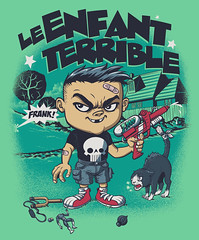 L'Enfant Terrible (RUbensSCarelli) Tags: castle water cat garden frank skull chat gun child problem trouble le weapon terrible bullseye enfant petit terrvel