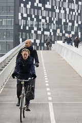 Bicycle Bridge (Mikael Colville-Andersen) Tags: street bridge bike bicycle copenhagen style chic kbenhavn cykel cykling streetstyle bryggebroen cyclechic velopassioncc