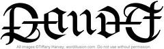 """""""Gaudet"""" Ambigram"""
