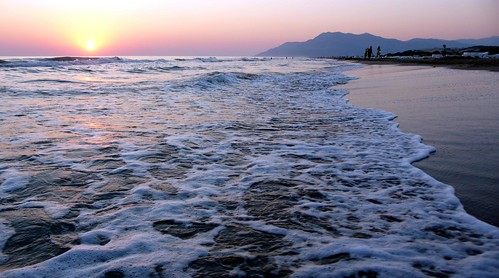 patara beach at sunset
