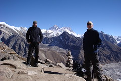 At Gokyo Ri, Everest in the background