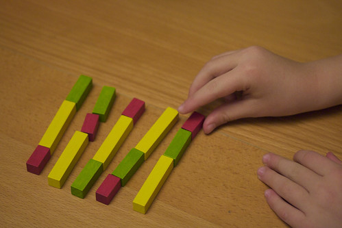 Practicing permutations with Cuisenaire rods