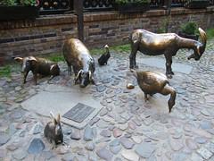 Bronze farm animals, Wrocław (EuCAN Community Interest Company) Tags: poland 2009 eucan milicz baryczvalley