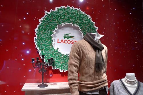 Vitrine Lacoste - Paris décembre 2009