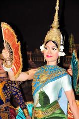 Cultural Dance_004 (Caesda) Tags: woman girl smile fan cambodian dancer cultural headgear d300 caesda