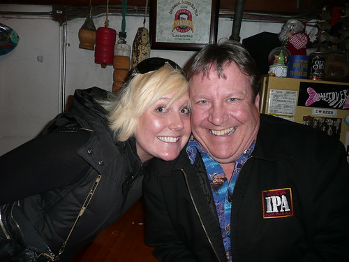 Tweetup organizer Ashley, a.k.a. The Beer Wench, with Ron Lindenbusch, from Lagunitas