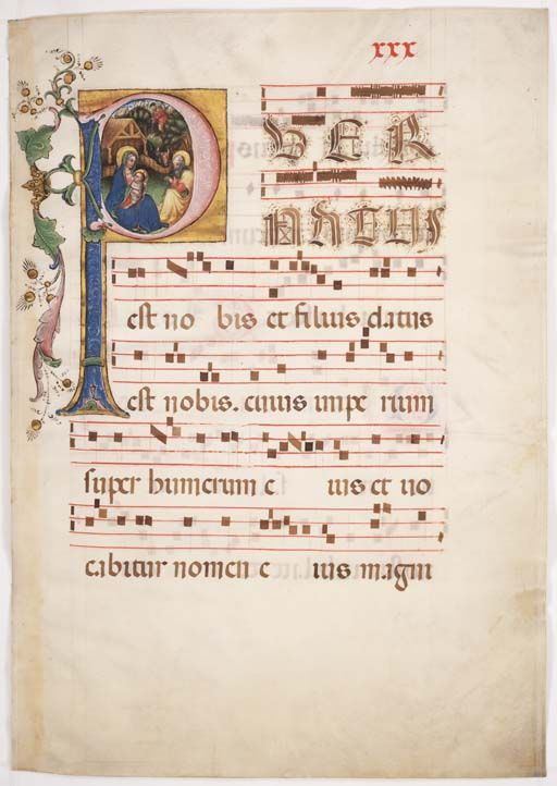 Gradual (Initial P with the Nativity)