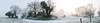 Below Zero (Mindful Youth) Tags: old blue trees sky panorama sun house mist snow cold field grass silhouette fog landscape frost bare branches special lane countrylandscapes