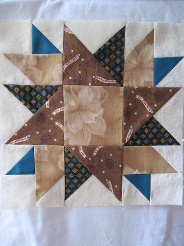 finished block for Shrinking Quilters virtual quilting bee