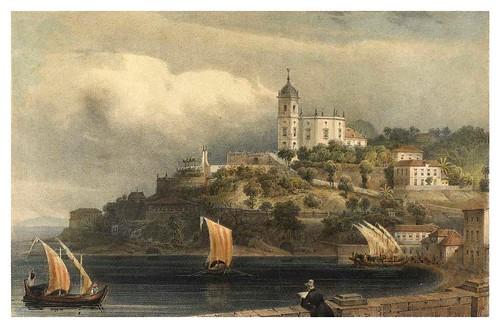 027- Nuestra Sra Da Gloria en Rio de Janeiro desde una  terrraza-Saudades do Rio de Janeiro- Wilhelm Karl Theremin 1835
