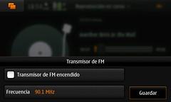 Transmisión por FM.