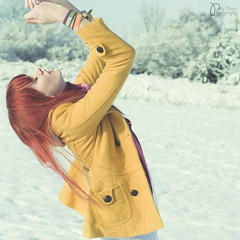 Untitled (Explored) (Polly-Thomas) Tags: winter 3 selfportrait snow girl pose hair pastel redhead redhair squarecrop 50mmf18 nikond90