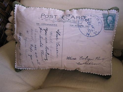 Post Card Pillow