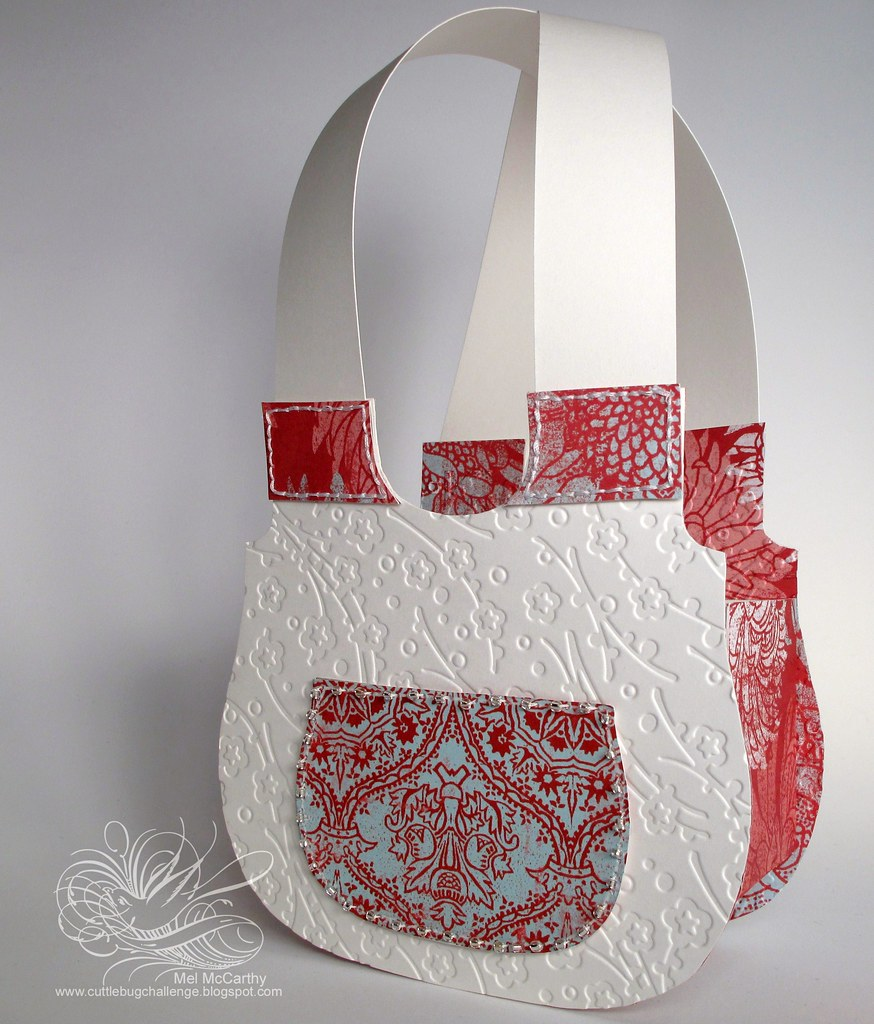 Cuttlebug Challenge Blog Plum Blossom Provocraft Purse by mel stampz - Copy