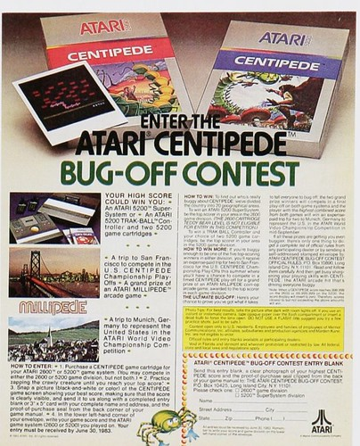 Centipede para Atari (1981)