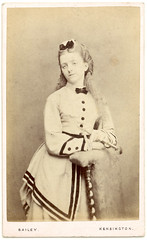 Relaxed young lady- CDV (Rescued by Rover) Tags: fashion photographer victorian bailey cdv kensington visite carte