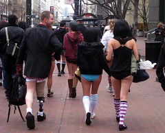 No Pants! Subway Ride 2010: San Francisco (Klara Kim) Tags: sf sanfrancisco people train underwear bart butts underpants pantless prosthesis 2010 improveverywhere nopantsday artificiallimb nopantssubwayride