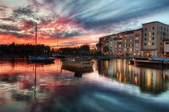 The Portofino Bay (Stuck in Customs) Tags: travel pink light sunset vacation sky italy usa color building texture water architecture digital america boats photography hotel bay design blog high orlando nikon dynamic stuck florida dusk south united north january scenic resort east dreamy imaging serene universal states hotels southeast studios range portofino hdr loews trey travelblog dreamscape customs 2010 aesthetic universalorlando facsimile ratcliff stuckincustoms d3x