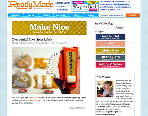 Spicy Labels // ReadyMade Blog