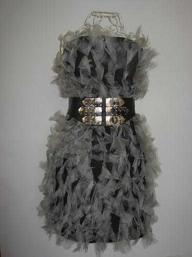 vestido gris cristina piña