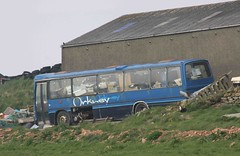 IMMOBILE STORESHED (MPS970W) GRIMNESS 100508 (David Beardmore) Tags: volvo b58 duple nonpsv immobilestoreshed mps970w georgesonmooreofscalloway