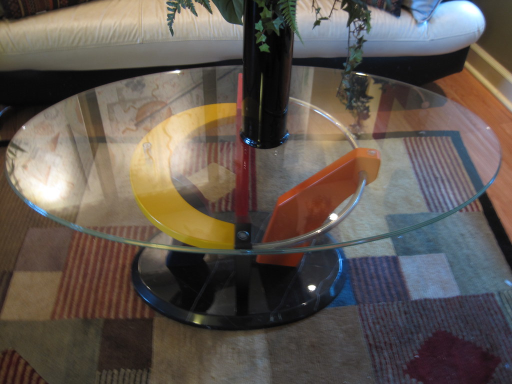 Sold! -Ultra Modern Glass Coffee table $275. Ordered from NY