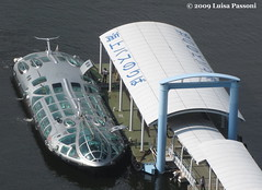 Water cruise terminal, Odaiba, Tokyo (LuisaLuisa) Tags: tokyo  odaiba fujitelevision waterbus  fujitv watercruise tky