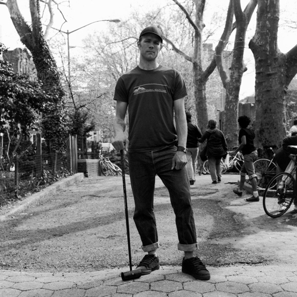 Doug D NYC hardcourt bike polo player by Amadeo Lasansky