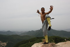 tiger stance-shaolin-   (ofershao) Tags: temple martial arts thai kungfu punching kicks bags cohen muay shaolin weapons sanda ofer  sanshou