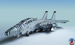 Tophatters F-14A Tomcat (1) (Mad physicist) Tags: model fighter lego aircraft military usnavy tomcat 136 ussenterprise grumman f14a tophatters