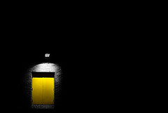 Second door on the left (Danny Beattie) Tags: door abstract black yellow darkness sony salfordquays wideangle a300 1118mm