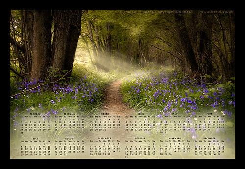 Bluebells Desktop Calendar
