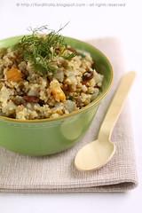 Insalata mediorientale di bulgur e quinoa