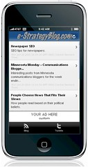 e-Strategy Internet Marketing Blog iPhone App