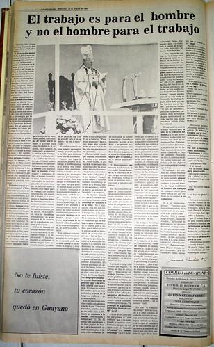 25 años de la visita del Papa Juan Pablo II