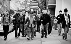 Protestations Caliberations (pix.plz) Tags: sanfrancisco blackandwhite walking frankchu sfist caliber calibersfpw013010 caliberpw013010 caliberpwsf013010 pixplz