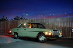 1976 Mercedes-Benz 240D Diesel (mercedesmotoring) Tags: auto sunset green classic car night sedan vintage francis mercedes benz diesel d mercedesbenz 1976 jg 240 240d worldcars mercedesmotoringcom