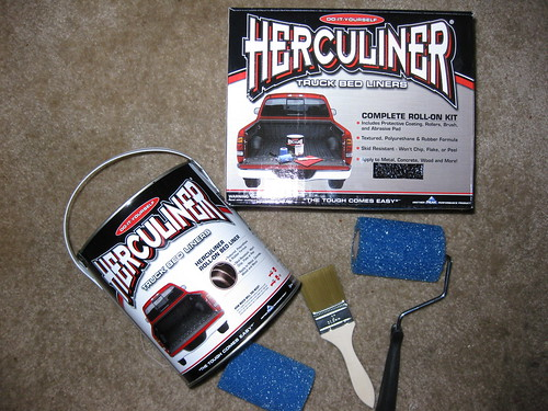 Herculiner Bed Liner Application