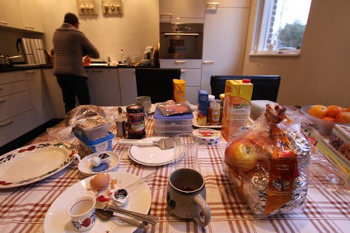 Overwhelming brekkie with Truus in Oostrum, Holland.