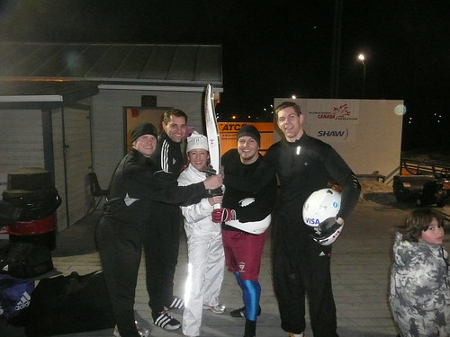 Sharing the Olympic Torch experience with Alberta Bobsleigh Community