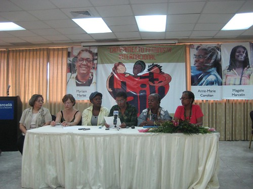 The International Feminist Solidarity Camp met January 27th in the Dominican Republic to discuss women's rights in Haiti