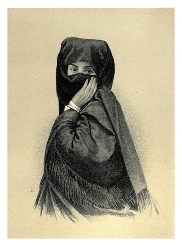 014-Mujer peruana velada con la mantilla-Lima or Sketches of the capital of Peru-1866- Manuel Atanasio Fuentes Delgado