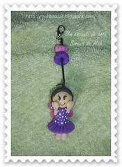 Menina borboleta (Mrcia lima * - *) Tags: biscuit chaveiro porcelanaffria