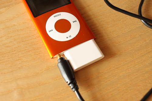 iPod nano's output jack