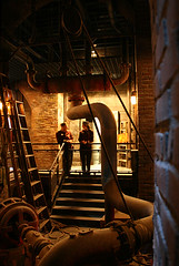 Hollywood Tower Hotel basement (floating_stump) Tags: basement waltdisneyworld dingy bellhop hollywoodtowerhotel steampipes improvisedtripod rebelxti hollywoodstudios twlightzonetowerofterror
