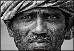 Farmer. (Prabhu B Doss) Tags: portrait bw india white black nikon farmer tirunelveli tamilnadu d80 prabhub prabhubdoss zerommphotography 0mmphotography
