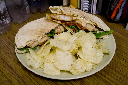 Cajun Chicken Pita Sandwich
