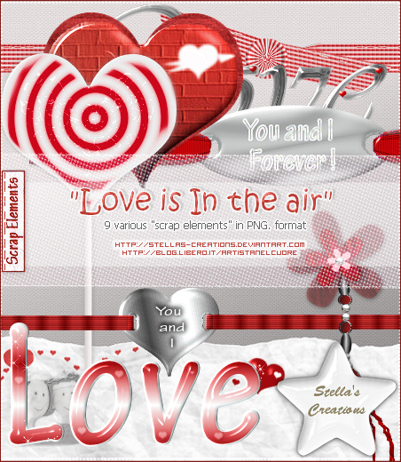 Love is in the air - © Blog Stella's Creations: http://sc-artistanelcuore.blogspot.com