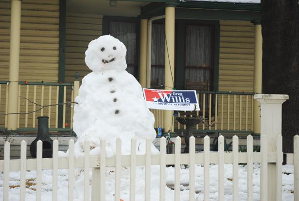 political snowman